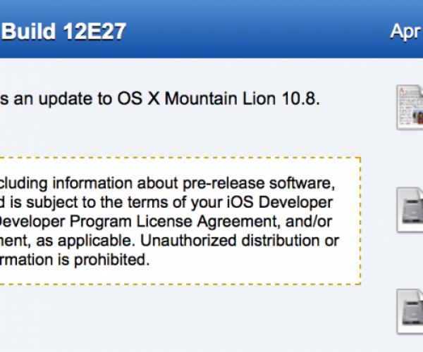 اولین نسخه آزمایشی OSX Mountain Lion 10.8.4 عرضه شد