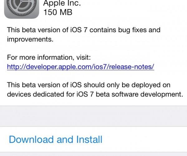 iOS 7 بتا ۵ عرضه شد