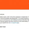 نسخه نهایی iOS 7 در تاریخ ۱۹ شهریور عرضه می شود