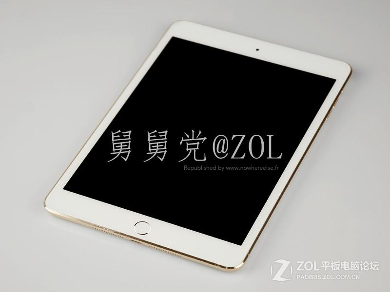 انتشار تصاویری از iPad Mini طلایی همراه با سنسور Touch ID