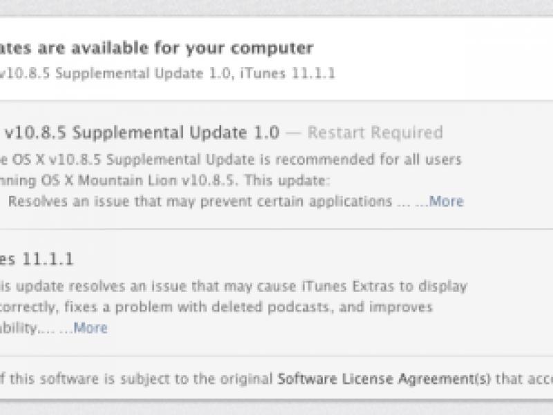 نسخه جدید 10.8.5 منتشر شد