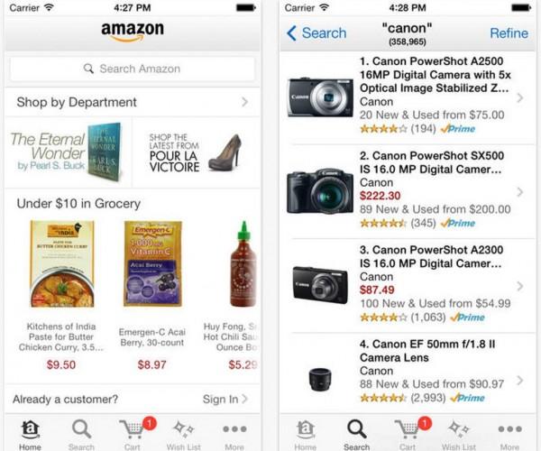 طراحی دوباره برنامه Amazon برای iOS7