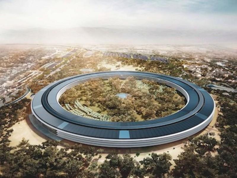 ساختمان جدید اپل، معروف به 'سفینه فضایی' را اینگونه خواهید دید