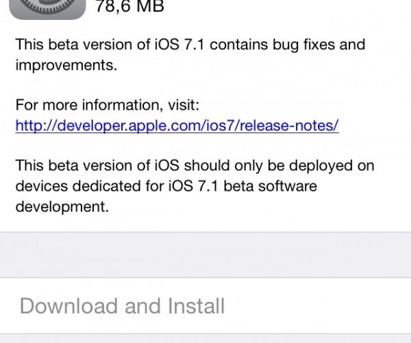 پنجمین نسخه آزمایشی iOS 7.1 عرضه شد