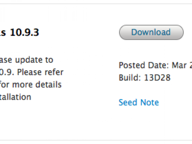 چهارمین نسخه آزمایشی OS X Mavericks 10.9.3 عرضه شد
