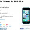 مدل ۸ گیگ iPhone 5c رسما معرفی شد