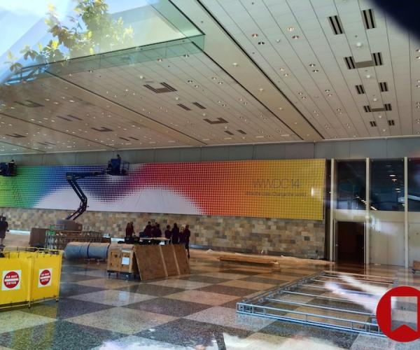 آغاز نصب بنر ها در محل کنفرانس WWDC 2014 [آپدیت]