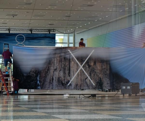بنر مربوط به نسخه جدید مک در سالن کنفرانس WWDC نصب شد