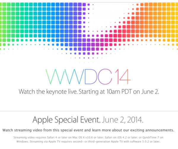 کنفرانس wwdc 2014 از سوی اپل پخش زنده خواهد شد