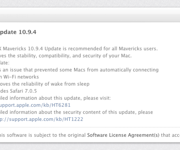 نسخه نهایی OS X Mavericks 10.9.4 عرضه شد