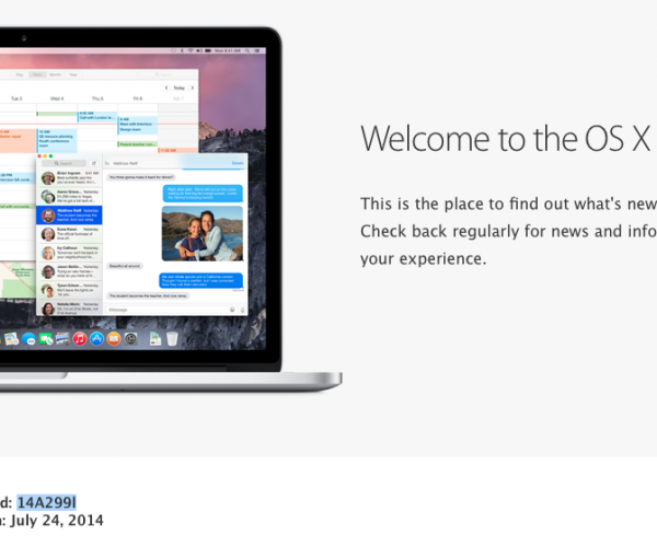 نسخه بتای عمومی OS X Yosemite عرضه شد