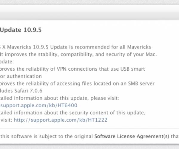 عرضه نسخه نهایی OS X Mavericks 10.9.5