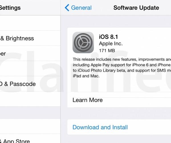 نسخه نهایی iOS 8.1 منتشر شد.