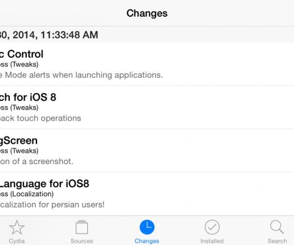 آپدیت سیدیا (۱.۱.۱۴) جهت هماهنگی بیشتر با iOS 8 و آیفون ۶ و ۶ پلاس