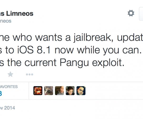 حفره امنیتی مورد استفاده در Pangu 8 در iOS 8.1.1 بسته شده است