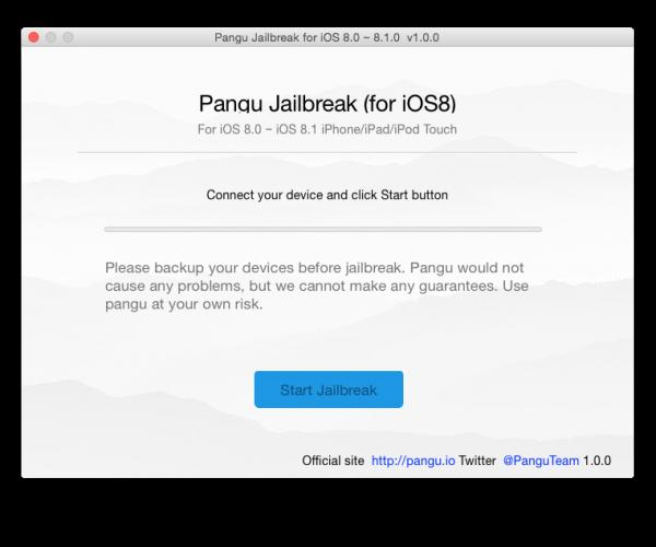 ابزار جیلبریک پانگو (iOS 8.X) برای سیستم عامل مک عرضه شد