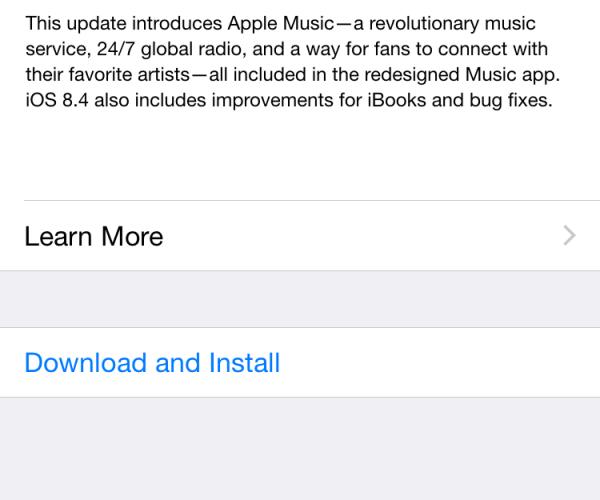 نسخه نهایی iOS 8.4 منتشر شد
