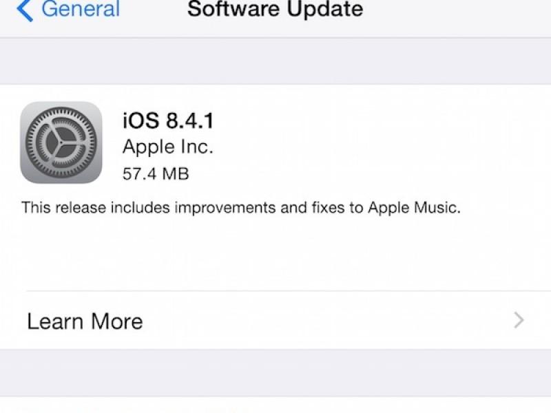 نسخه نهایی iOS 8.4.1 عرضه شد