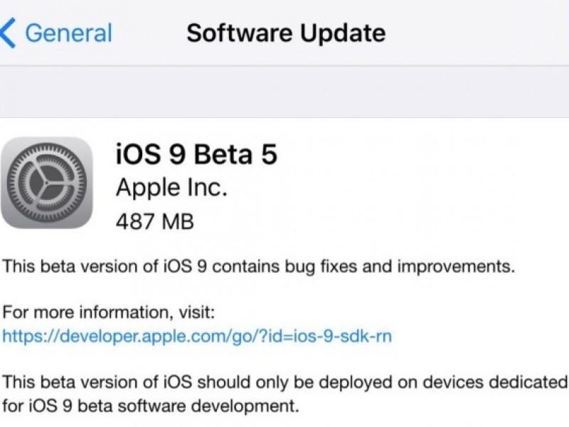 پنجمین نسخه آزمایشی iOS 9 برای توسعهدهندگان عرضه شد