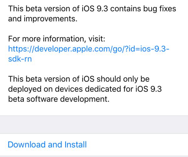 سومین نسخه آزمایشی iOS 9.3 برای توسعهدهندگان عرضه شد