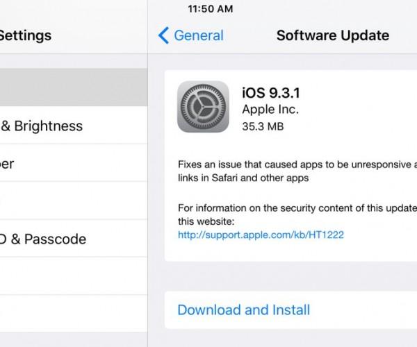 iOS 9.3.1 عرضه شد