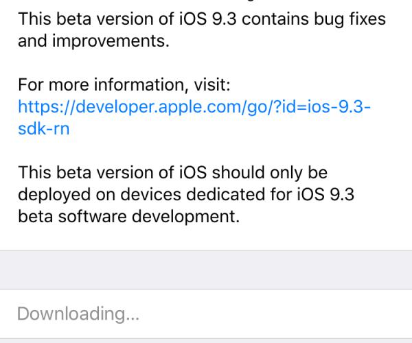 پنجمین نسخه آزمایشی iOS 9.3 برای توسعهدهندگان عرضه شد