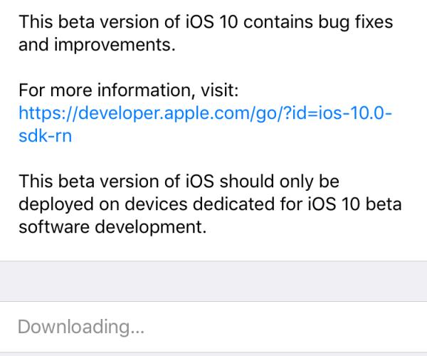 پنجمین نسخه آزمایشی iOS 10 عرضه شد