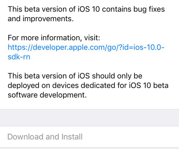 هشتمین نسخه آزمایشی iOS 10 عرضه شد