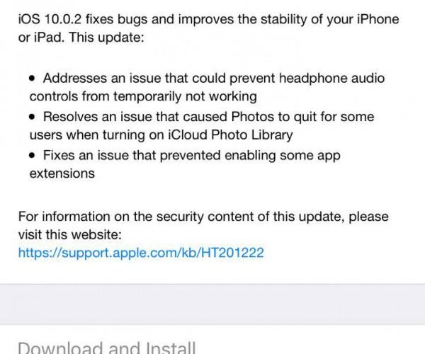 iOS 10.0.2 عرضه شد