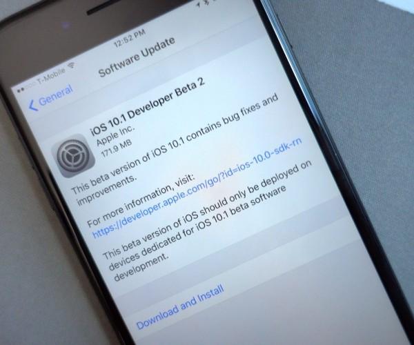 دومین نسخه آزمایشی iOS 10.1 عرضه شد
