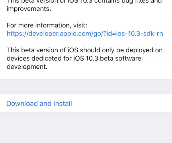 پنجمین نسخه آزمایشی از iOS 10.3, macOS Sierra 10.12.4, watchOS 3.2 و tvOS 10.2 عرضه شد