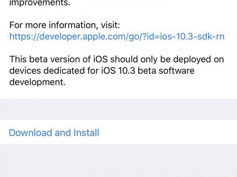 ششمین نسخه آزمایشی از iOS 10.3 و macOS Sierra 10.12.4 عرضه شد
