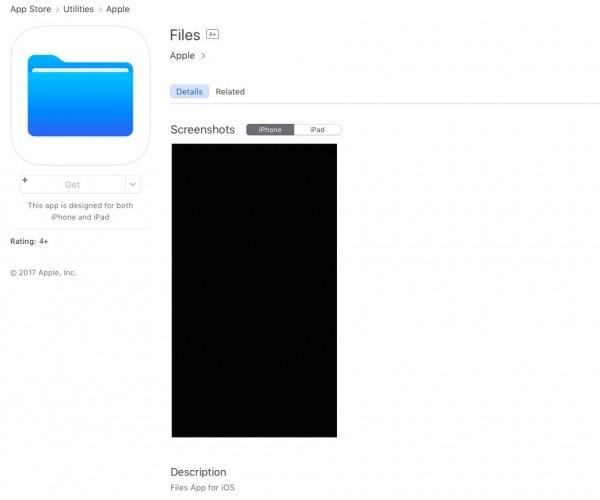 انتشار زودهنگام اپلیکیشن Files برای iOS 11 توسط اپل