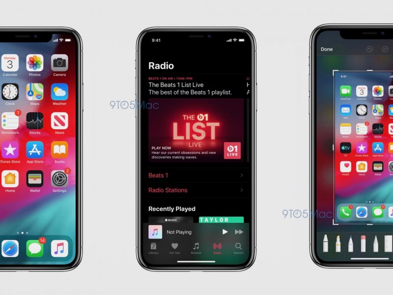 انتشار اسکرینشاتهایی از iOS 13 با پشتیبانی از Dark Mode