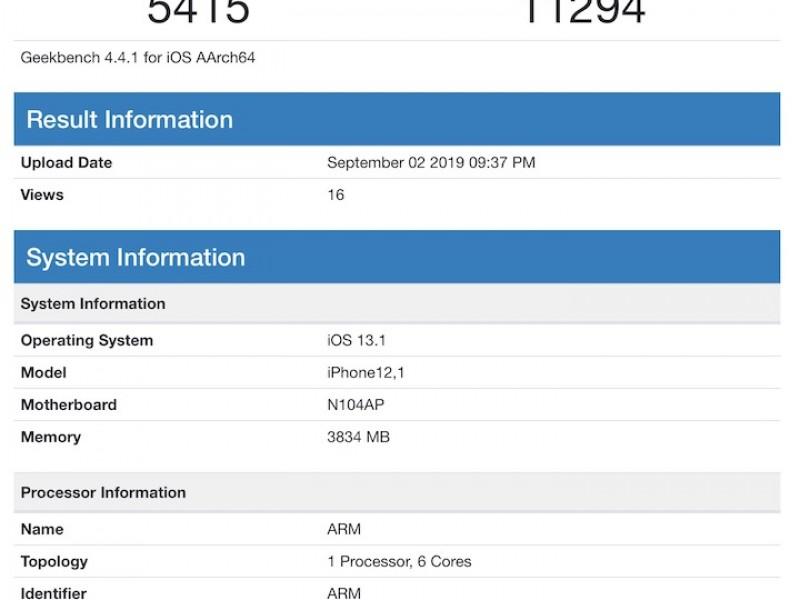 انتشار نتایج بنچمارک نسل بعدی آیفون iPhone XR