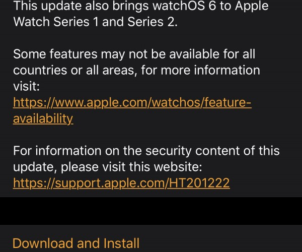 نسخه نهایی watchOS 6.1 عرضه شد