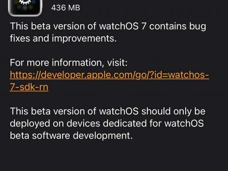 نسخه جدید watchOS 7 بتا ۵ عرضه شد