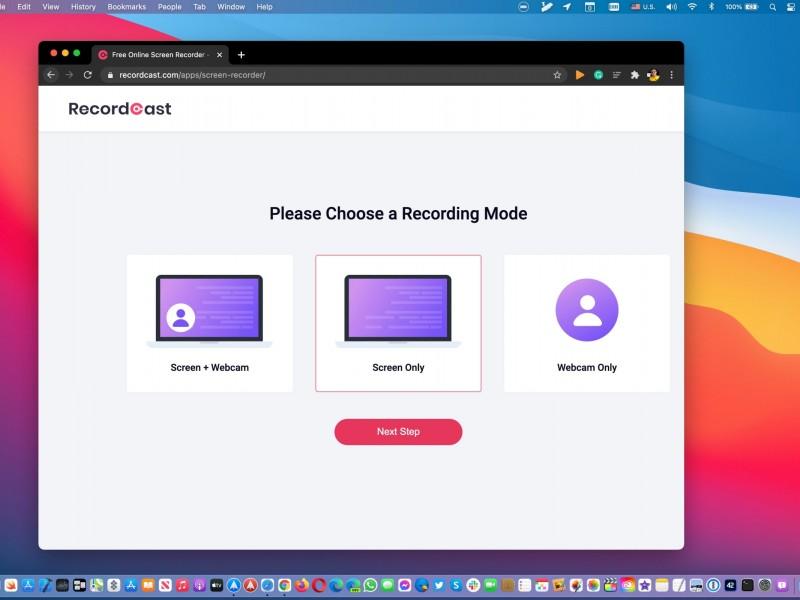 ضبط رایگان صفحهنمایش به کمک وبسایت RecordCast