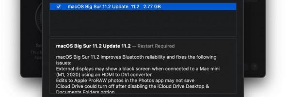 نسخه جدید macOS Big Sur 11.2 RC عرضه شد
