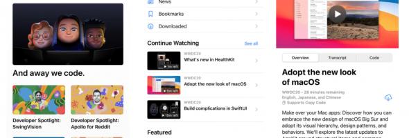 آپدیت اپلیکیشن Developer برای WWDC 2021