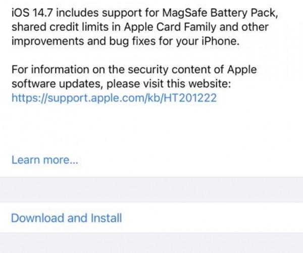 نسخه نهایی iOS 14.7 و iPadOS 14.7 عرضه شد