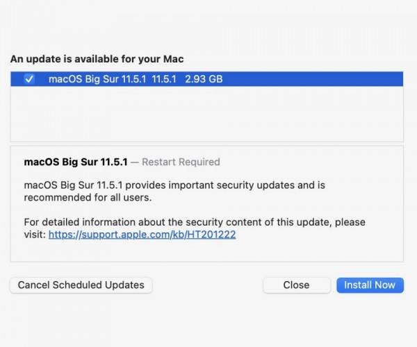 نسخه نهایی macOS Big Sur 11.5.1 عرضه شد