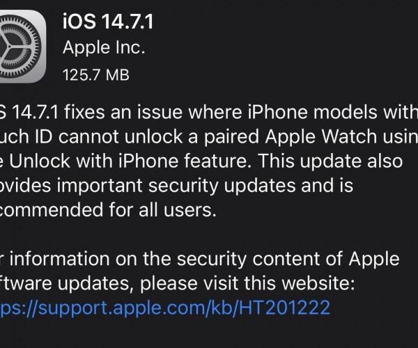 نسخه نهایی iOS 14.7.1 و iPadOS 14.7.1 عرضه شد