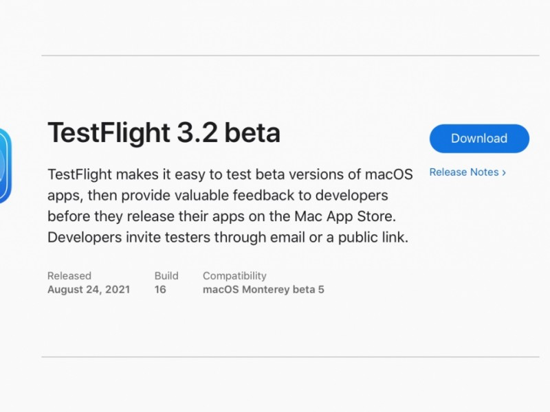 اپلیکیشن TestFlight برای مک منتشر شد