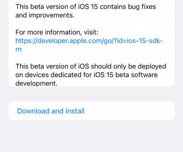 نسخه بتا ۷ از iOS 15 و iPadOS 15 عرضه شد