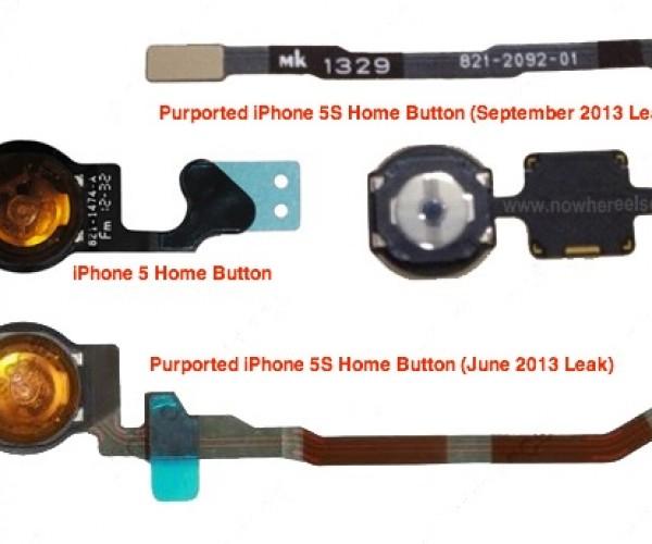 انتشار تصویر دکمه هوم iPhone 5S با قابلیت اسکن اثرانگشت