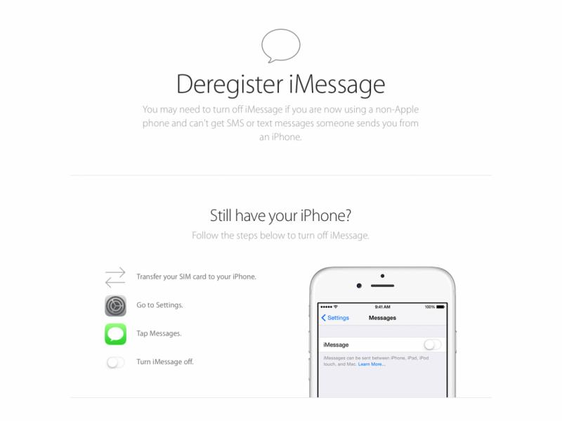 سرویس جدید اپل جهت حذف شماره موبایل از iMessage بدون iDevice