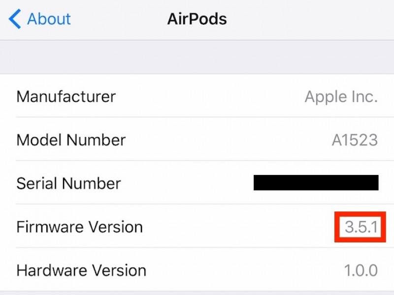 آپدیت جدید ۳.۵.۱ برای AirPods عرضه شد