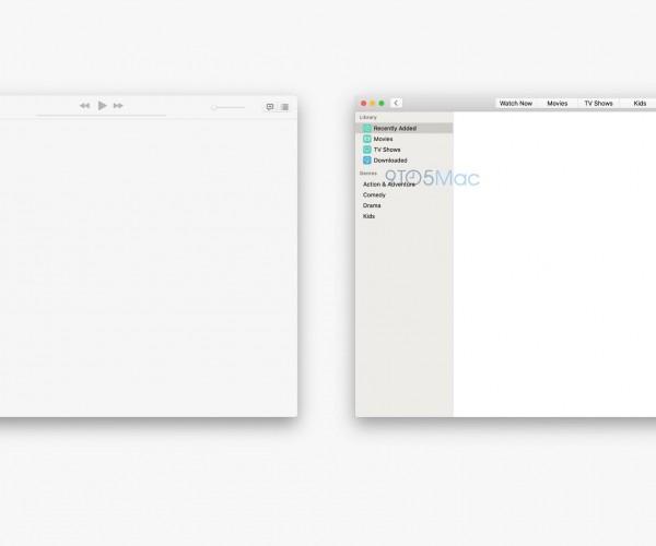 انتشار تصاویری از اپلیکیشنهای Music و TV در macOS 10.15