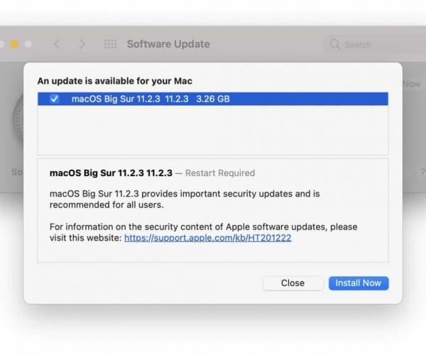 نسخه جدید macOS Big Sur 11.2.3 عرضه شد